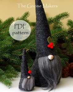 CHRISTMAS Gnome PDF Pattern 3 Sizes Cloth Doll Sewing | Etsy Nordic Christmas, Christmas Gnome, Handmade Christmas, Christmas Decor, Holiday Decor, Doll Sewing Patterns, Knitting Patterns Free, Gnome 4, Gnome Tutorial