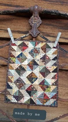 Crib Quilts, Scrappy Quilts, Mini Quilts, Quilting Ideas, Quilting Projects, Placemat Ideas, Primitive Quilts, Miniature Quilts, Doll Quilt