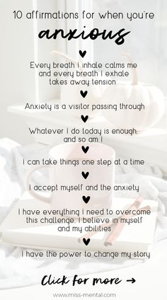 10 Affirmations for anxiety with free phone wallpapers Anxiety Coping Skills, Anxiety Tips, Anxiety Help, Stress And Anxiety, Affirmations Positives, Positive Affirmations Quotes, Affirmation Quotes, Gratitude Quotes, Affirmations For Success