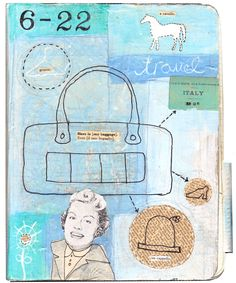Art journal page - Claudine Hellmuth
