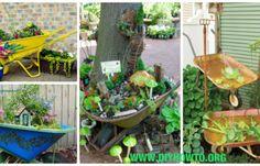 DIY WheelBarrow Garden Projects & Instructions