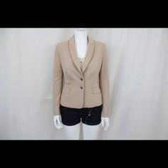 Nude blazer from Esley Only worn this once for an hour. It is way too big on me. True to size. Self 70% Polyester 25 % Cotton 5 % spandex Lining 100% cotton. The color hanging on the door is the right color Esley Jackets & Coats Blazers