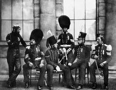 Decorated Crimean veterans: Light Dragoons, 11th Hussars FootGuards & Royal Artillery