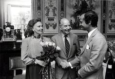 prince sigvard bernadotte with King Carl Gustav and his wife, Marianne