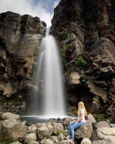 Taranaki Falls on the Tongariro Northern Circuit. North Island New Zealand, South Island, Adventure Photos, Adventure Travel, Girls Love Travel, Camping Guide, New Zealand Travel, Best Hikes, Amazing Destinations