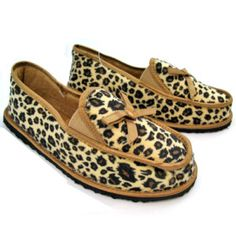 Leopard cougar animal print flat shoes $45 ... we sell more WOMENS SHOES, SLIPPERS and SANDALS at http://www.TropicalFeel.com