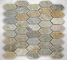 Master / Second Bath| Silver Sands Picket Mosaic