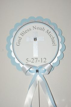 Baptism Christening Centerpiece Personalized Pink or by TootnBoo, $13.50