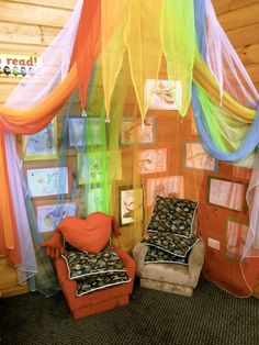 Reading Center-the fabric is really cool!