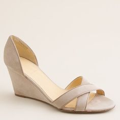 33 Wedge Sandals To Look Cool And Fashionable - New Shoes Styles & Design Prom Shoes, Wedding Shoes, Bridesmaid Shoes Wedges, Bridal Shoes, Wedge Sandals, Wedge Shoes, Sandal Wedges, Summer Sandals, Summer Shoes