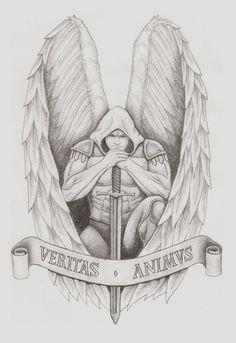 Archangel Tattoo by spacemunky1979.deviantart.com on @DeviantArt