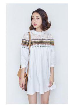 Korean fashion sleeve striped top