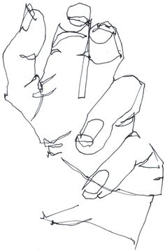 blind contour drawing (also called pure contour drawing) definition and instructions