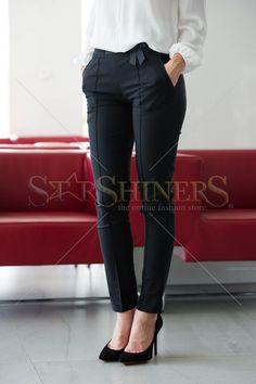 Pantaloni LaDonna Bow Waist Black