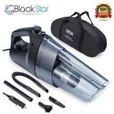 Car Vacuum Cleaner, Handheld Vacuum Cleaner DC 12V 4500Pa Strong Suction #Deik Car Vacuum, Handheld Vacuum Cleaner, Black Star, Strong, Tech, Ebay, Technology