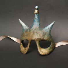 Paper Mache Masks on Behance Paper Mache Diy, Paper Mache Projects, Paper Mache Mask, Paper Mache Sculpture, Creepy Masks, Cool Masks, Halloween Masks, Halloween Costumes For Kids, Craft Fur