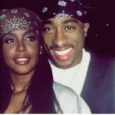 Tupac Shakur and Aaliyah. King and Queen 2pac, Tupac Shakur, Mode Old School, Couple Noir, Rapper, Tupac Pictures, Ropa Hip Hop, Aaliyah Style, Estilo Hip Hop