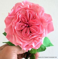 Veena's Art of Cakes: How to make a Gum Paste Cabbage Rose, Gum Pase David Austin Rose
