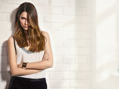 tendance couleur cheveux : coiffure de femme bronde