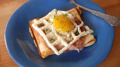 You can--and MUST--cook your eggs on an open waffle iron