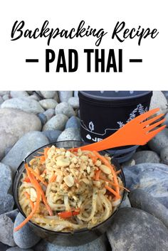 Easy Backpacking Recipe: Pad Thai. Super delicious and easily made vegetarian by omitting the freeze-dried chicken.