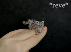 Adorable Miniature Animal Sculptures By Reve http://designwrld.com/adorable-miniature-animal-sculptures-by-reve/