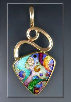 Cloisonné enamel pendant
