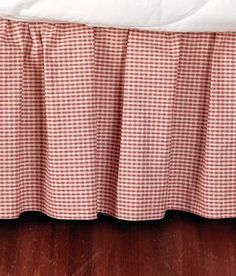 "Laurel Check Gathered Bed Skirt 15"" Drop"