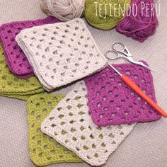 Primer granny tejido a crochet para principiantes / crochet Granny for beginners! Love Crochet, Crochet Granny, Crochet Motif, Crochet Stitches, Crochet Blanket Patterns, Baby Blanket Crochet, Crochet Baby, Knit Crochet, Knitting Projects