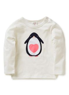 Baby Clothes | Bg Long Sleeve Penguin Tee | Seed Heritage