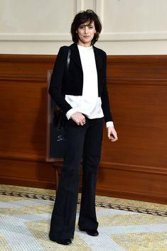 Ines de la Fressange - Chanel Fall 2015 Front Row - March 10, 2015 #PFW