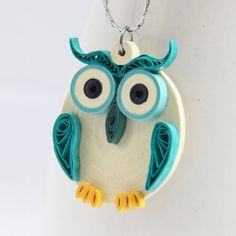 FREE shipping worldwide on orders $60 and above! Aqua Owl Pendant Eco Friendly Fashion Handmade by by HoneysHive, $32.00