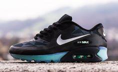 "Nike Air Max 90 ICE ""Black, Grey & Green"""