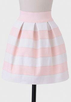 Adrianna Textured Skirt In Blush