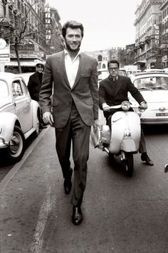 A 1960s Clint Eastwood carries his confidence like no other.