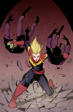 Captain Marvel by Michael Lee Lunsford Ms Marvel Captain Marvel, Miss Marvel, Marvel Comics, Heros Comics, Captain Marvel Carol Danvers, Marvel Heroes, Marvel Avengers, Comic Book Characters, Marvel Characters