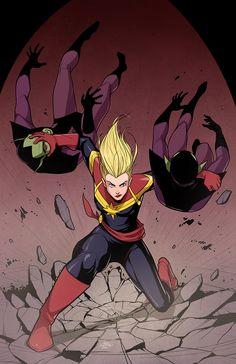 Captain Marvel by MichaelLeeLunsford.deviantart.com on @deviantART