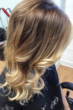 Blond ombre hair