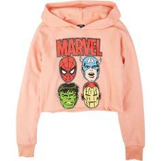 Marvel Hoodie ($14) ❤ liked on Polyvore featuring tops, hoodies, sweaters, shirts, sweatshirts & hoodies, red hoodie, shirt hoodies, hooded sweatshirt, red hoodies and red sweatshirt