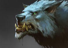 Wolf head Practice, Zhang Davey on ArtStation at https://www.artstation.com/artwork/wolf-head-practice
