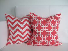 Coral Pillow Covers