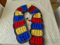 Gehaakte Lego sjaal voor jongens