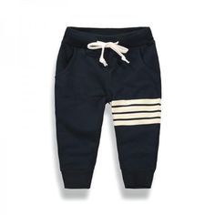 Casual Stripes Print Sporty Pants for Toddler Boy and Boy