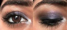 Tutorial : Easy purple party eye makeup for Brown eyes