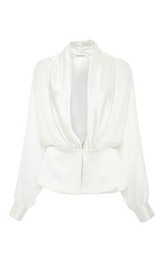 Silk Georgette And Satin Draped Blouse by RODARTE Now Available on Moda Operandi
