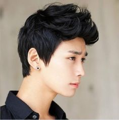 New Handsome boys vogue sexy Korean men short hair Cosplay wigs + Free Shipping