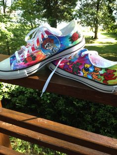 Grateful Dead Converse Hand Painted by ChromeReflections on Etsy