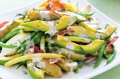 Give the humble potato salad a makeover with fresh avocado, lime and dill.