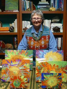 Self-portrait with Sunflower Prints on Metal. Cris Fulton, Bowman, North Dakota, 2016.