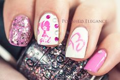 Barbie nails Barbie manicure Barbie nail art pink girly nail polish